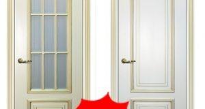 Двери со стеклом, глухие двери