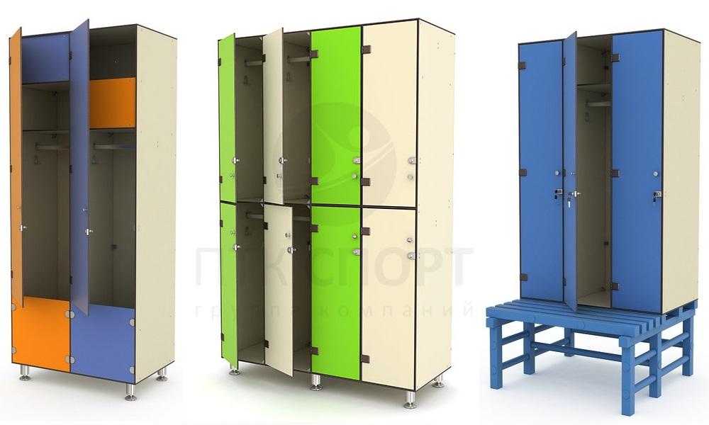 5plasmeb Разновидности шкафов для спортивных раздевалок